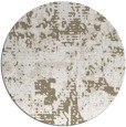 rug #1071314 | round white faded rug