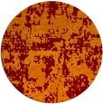 rug #1071358 | round orange faded rug