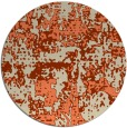 rug #1071366 | round orange graphic rug