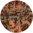 rug #1071370 | round orange faded rug