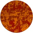 rug #1071410 | round red graphic rug