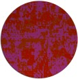 rug #1071418   round red faded rug