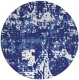 rug #1071450 | round blue faded rug