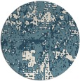 rug #1071462 | round white faded rug
