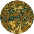 rug #1071482 | round yellow rug