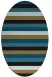 rug #107197 | oval mid-brown retro rug