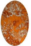 rug #1072258 | oval orange graphic rug