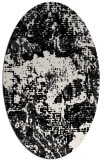 rug #1072262 | oval white abstract rug
