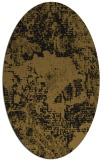 rug #1072278 | oval mid-brown rug