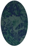 rug #1072298 | oval blue-green abstract rug