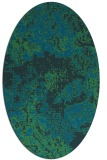 rug #1072326 | oval blue graphic rug