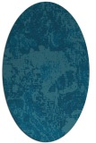 rug #1072330 | oval blue-green abstract rug