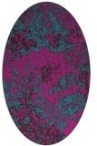 rug #1072342 | oval pink graphic rug