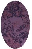 rug #1072358 | oval blue-violet graphic rug