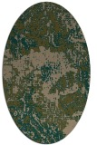 rug #1072374 | oval brown rug