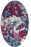 rug #1072378 | oval red abstract rug