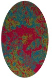 rug #1072382 | oval blue-green abstract rug