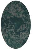 rug #1072390 | oval green abstract rug