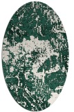 rug #1072394 | oval blue-green abstract rug