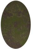 rug #1072398 | oval green rug