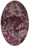 rug #1072422 | oval pink graphic rug