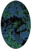 rug #1072458 | oval black graphic rug