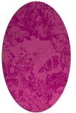 rug #1072478 | oval pink graphic rug