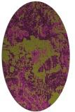 rug #1072498 | oval green abstract rug