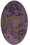 rug #1072502 | oval purple graphic rug
