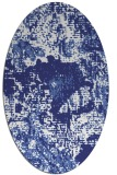 rug #1072554 | oval white abstract rug