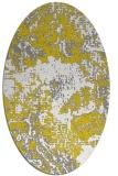 rug #1072582   oval yellow graphic rug