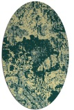 rug #1072590 | oval blue-green abstract rug