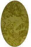 rug #1072594 | oval light-green rug