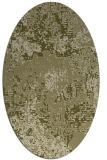 rug #1072606 | oval light-green rug