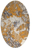 rug #1072622 | oval white abstract rug