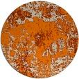 rug #1072994 | round orange graphic rug