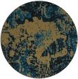 rug #1073022 | round brown rug