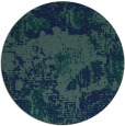 rug #1073034 | round blue-green abstract rug