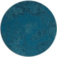 rug #1073046 | round blue-green graphic rug