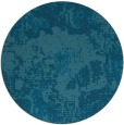 rug #1073066 | round blue-green abstract rug