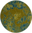 rug #1073074 | round green abstract rug