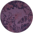 rug #1073094 | round blue-violet abstract rug