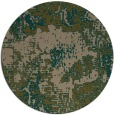 rug #1073110 | round mid-brown rug