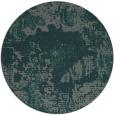 rug #1073126 | round blue-green rug