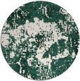 rug #1073130 | round green graphic rug