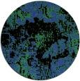 rug #1073194 | round black graphic rug