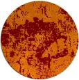 rug #1073198 | round red-orange graphic rug