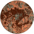 rug #1073210 | round orange rug