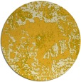 rug #1073310 | round yellow abstract rug