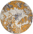 rug #1073358 | round light-orange graphic rug